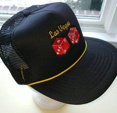 Las Vegas Trucker Snapback Hat by ResouledGypsy on Etsy