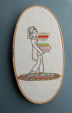 Embroidery Patterns BOOKSMART Hand Embroidery by Corinne of SeptemberHouse on Etsy