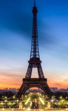 Paris in evening