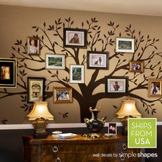 Albero genealogico decalcomania - foto albero decalcomania - albero genealogico Wall Decal