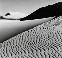 Black and White Sand Dunes