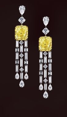 Jewel of the day: David Morris canary diamond earrings | Yellow ...