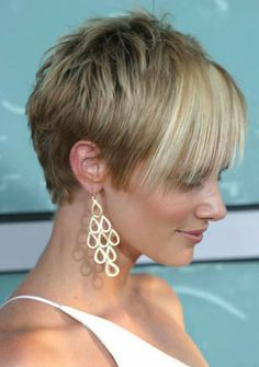 hair styles for short hair. This one is kind of funky!
