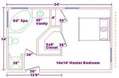 Best 14X16 Master Bedroom Floor Plan With Bath And Walk In 400 x 300