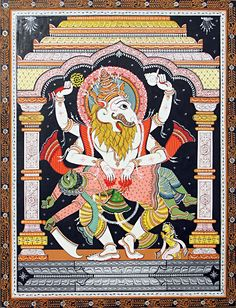pmikos:  Narsimha Avatar - Lord Vishnu in the form of Half - Man and Half - Lion   As the fourth Avatara, the Lord vanquished Hiranyakaship...