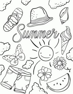 Summer Coloring Pages | Clip Art | Summer coloring sheets ...