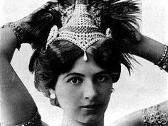 Mata Hari (1867-1917) was the stage name of the Dutch exotic dancer, Gertrud Margarete Zelle. She grew up in the Dutch East Indies. She was a dancer in Paris, with many French military officers as lovers. Her reputation as a femme fatale led the Germans to offer to pay her for any useful information. Foolishly, she accepted, and she also offered to spy for the French. The French found out she agreed to work for the Germans, and arrested her; Mata Hari was executed by firing squad.