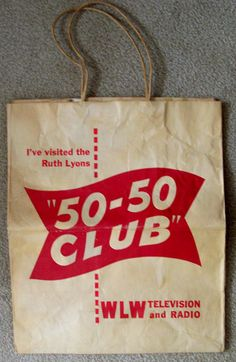 1950s RUTH LYONS 50-50 CLUB WLW-T TV & RADIO gift bag | by CINCINNATI TV & RADIO HISTORY