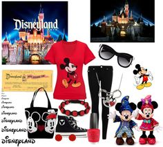 """mickey mouse"" by dgia ❤ liked on Polyvore"