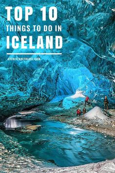 Crystal caves in Iceland. Don't miss the top 10 things to do in Iceland! Click through to read the whole post!