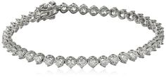 Myia Passiello Essentials Swarovski Zirconia 3mm Round Tennis Bracelet ** You can get more details by clicking on the image.