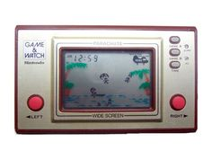 "The Nintendo ""Game & Watch"" games "" Good Old Times, The Good Old Days, My Childhood Memories, Sweet Memories, Vintage Games, Vintage Toys, Parachute Games, Retro Game, Mega Drive Games"