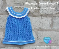 Mama's Sweetheart! Toddler Dress/Tunic - free crochet pattern