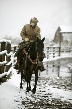 Winter on the Ranch Real Cowboys, Cowboys And Indians, Hot Cowboys, Cowgirl And Horse, Cowboy And Cowgirl, Western Riding, Western Art, Cowgirls, Rodeo
