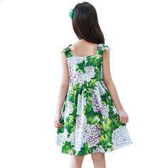 Дитячі дівчата одягаються Одяг Aonuosi Чиста бавовняна Верхне плаття  Принцеса Зелена костюм Дитяча літня одяг Підлітка 91e7b2cd7218c