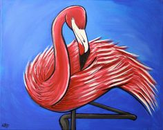 """Saatchi Online Artist William Thomas Farago; Painting, """"Flamingo#2"""" #art"""