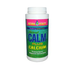 Natural Vitality Natural Calm Plus Calcium Raspberry-Lemon 16 Oz