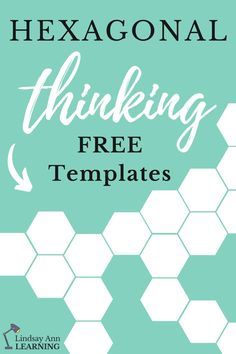 Plan your next hexagonal thinking activities for high school English or social studies with these free templates! This fun teaching idea requires critical thinking skills as students make connections between words, quotes, etc. in any text or subject area.  Increases student engagement with visual learning and active learning in your classroom! #highschoolenglish #googleclassroom #englishlanguagearts   #secondaryela #englishteacher #socialstudiesactivities