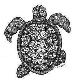 sea turtle zentangle - Google Search