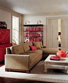 Photos of pink decor - myLusciousLife.com - Martha Stewart and her line for Bernhardt living room.jpg