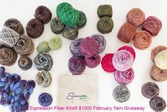 Yet another AWESOME giveaway of a huge pile of luxurious, scrumptious yarn from Expression Fiber Arts :) This one is for February 2015