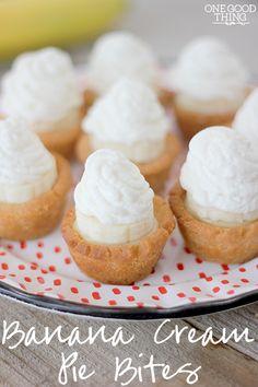 Banana Cream Pie Bites