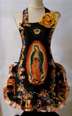 Virgen de Guadalupe Religious Retro Apron Mother by OliviabyDesign, $34.95