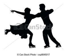 Silhouette Ice Skater Couple Embrace Back Kick Clip Art Silhouette Curio, Black Silhouette, Ice Skating Party, Skate Party, Ice Skate Drawing, Skater Couple, Skate Boy, Pyrography Patterns, Medical Illustration