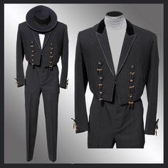 Vintage 50s Spanish Flamenco or Matador Suit // 1950s Black Jacket & Pants with Hat Mens Size Medium