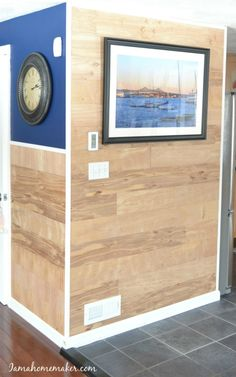 How to create an inexpensive shiplap wall