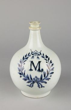 "Apothecary Bottle with Initial ""M"" in Laurel Wreath Edo period (1615–1868). Date: second half of the 17th century. Culture: Japan."