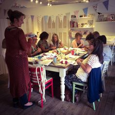 One of our Learn to crochet workshops, with our fantastic and experienced Rowan tutor Sophia. Learn To Crochet, Rowan, Dressmaking, Needle Felting, Two By Two, Workshop, Shops, Paper Crafts, Learning