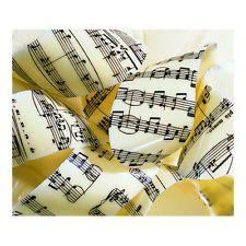 Music Sheet Print Chocolate Transfer Sheet