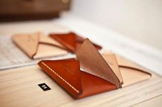 leather envelope wallet by barrett alley at the joinery