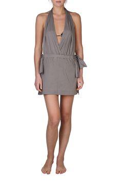 Chloe Back Cut Out Dress In Gray