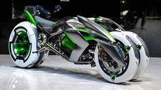 La nueva moto de Kawasaki venida del futuro