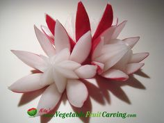 Radish Lotus Flower Garnishes - Taught in Nita's Vegetable and Fruit Carving 101