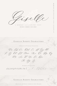 Giselle Script is an elegant modern calligraphy font that is perfect for branding, wedding invites and cards and so on. Modern Script Font, Handwritten Script Font, Calligraphy Fonts, Modern Calligraphy Quotes, Wedding Invitation Fonts, Wedding Stationary, Wedding Fonts, Hand Lettering Alphabet, Lettering Tutorial