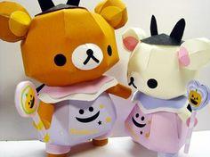 Rilakkuma & Korilakkuma Halloween paper crafts