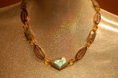 Artisan holistic necklace made of Labradorite by DriadaCollection, $85.00
