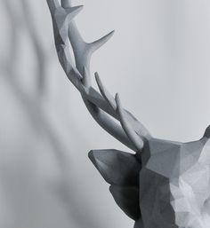 Stag. Geometric sculpture