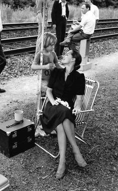 "Romy Schneider et son fils David - Tournage du film ""Le Train"""