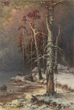 Winter in the Forest near Lake Peipus, 1912, Yuli Yulievich Klever