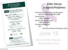 Elderly Abuse Support