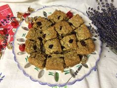 Lavender Blondies are so gooey good!! Perfect for Sweethearts on Valentines Day! #lavender #blondies #culinary #bake #cookiebar #cookingwithlavender #hoodriverlavender #organic #herbs