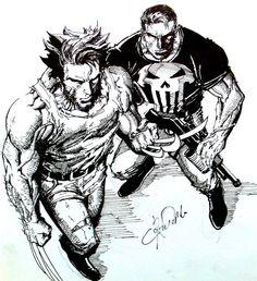 Wolverine Punisher - dobrzy znajomi.
