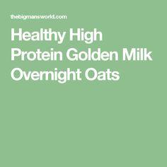 Healthy High Protein Golden Milk Overnight Oats