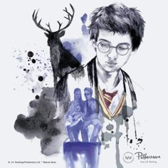 Literally everyone in the wizarding world wasn't kidding – Harry really is the spitting image of his father. Good to know that messy hair and stag Patronuses run in the Potter family.