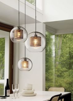 Luxury Nordic Modern New classical Living room Bedroom Pendant lights Creative Clear glass Droplight Gold silver lamp body LED Bulb,Nordic Modern New classical Living room Bedroom Pendant lights Creative Clear glass Droplight Gold silver lamp bod Modern Pendant Light, Glass Pendant Light, Glass Pendants, Metal Pendant Lights, Large Pendant Lighting, Pendant Lighting Over Dining Table, Dining Room Ceiling Lights, Pendant Light Fixtures, Mini Pendant