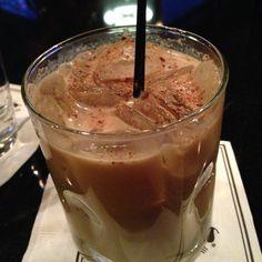 Morton's Winter Wonderland: Zabov, Italian liqueur, spiced rum, cream, Godiva dark, fresh nutmeg.